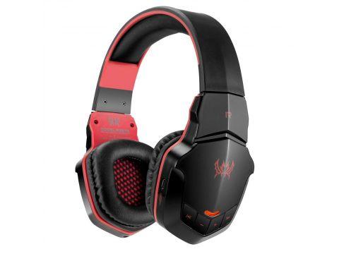 Беспроводные Bluetooth наушники Kotion Each B3505 с автономностью до 10 часов Черно-красный (hpkotb3505blre)