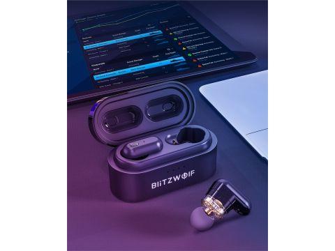 Беспроводные Bluetooth наушники BlitzWolf BW-FYE7 с двойными динамиками Черный