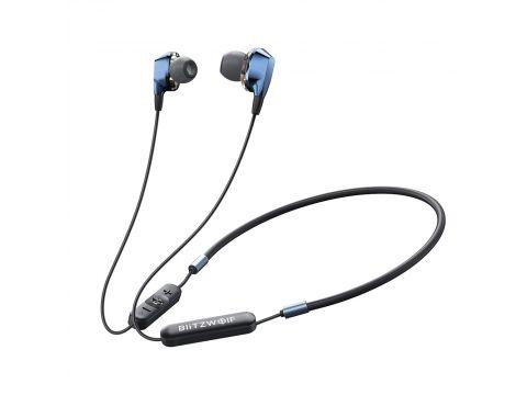 Беспроводные Bluetooth наушники BlitzWolf BW-BTS4 с шейным креплением Черный