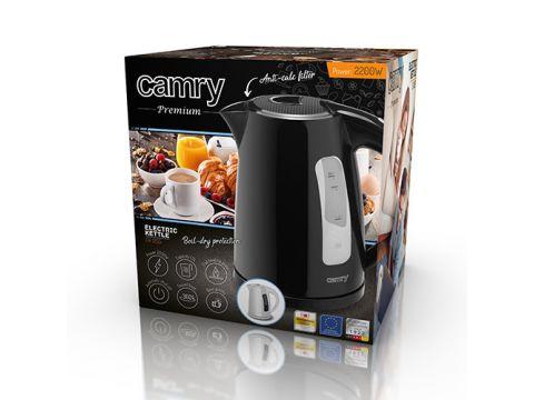 Чайник электрический электрочайник Camry CR 1255 1.7 л Black (111535)