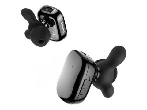 Беспроводные Bluetooth наушники Baseus Encok W02 со встроенным микрофоном NGW02-01 Черные (7607146181)
