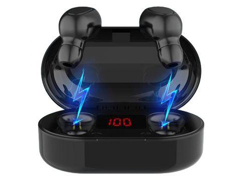 Беспроводные TWS наушники Topk L22 Bluetooth 5.0 с LED экраном Черные (1123086764)