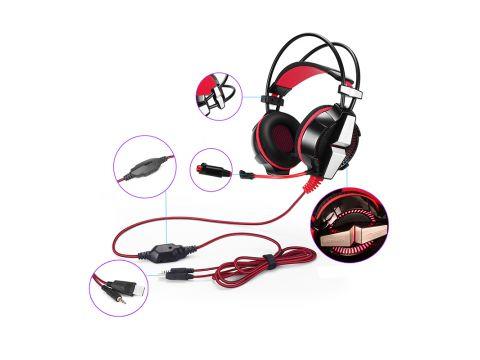 Игровые наушники KOTION GS700 Черный+Красный проводная гарнитура (4892-15608)