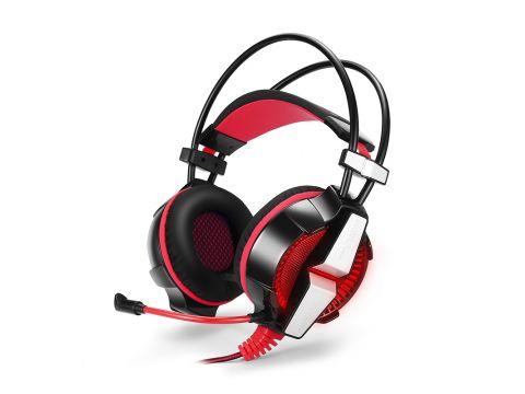 Игровые наушники KOTION GS700 проводная гарнитура Черный+Красный (4892-15608a)