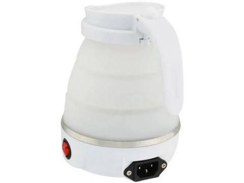 Электрочайник складной силиконовый дорожный Silicon Kettle 7107, белый