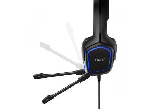 Игровые наушники iPega PG-R006 с регулируемым микрофоном Черно-синий
