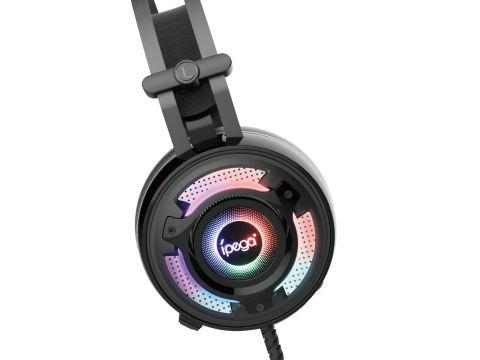 Геймерские наушники iPega PG-R008 с RGB подсветкой Черный