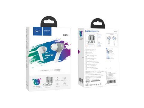 Наушники Bluetooth TWS Hoco Pleasure wireless headset ES34 в кейсе Белый (gr_012256)