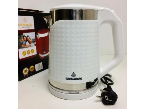 Электрочайник Crownberg CB-2844B чайник на 2л Белый