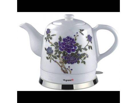 Чайник электрический Керамика ViLgrand VC0412F 1.2 л Белый (34-44844)