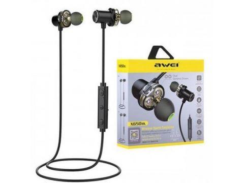 Беспроводные Bluetooth наушники Awei X660 BL Черный (gr_008539)