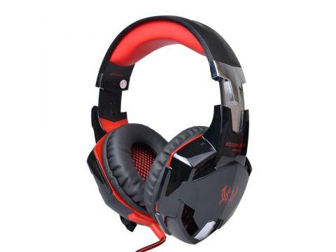 Геймерские наушники Kotion Each G2000 Pro Gaming с подсветкой Черно-красный (hpkotg2000probr)