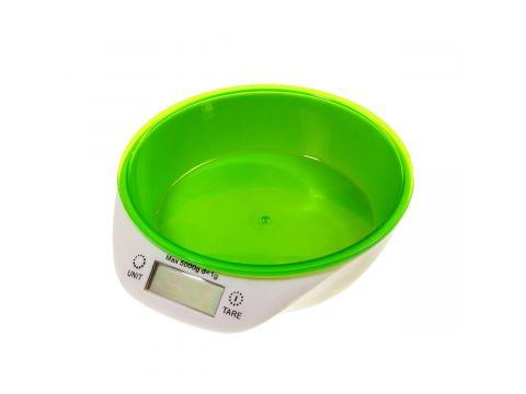 Кухонные электронные весы Supretto Бело-зеленые до 5 кг (5229)