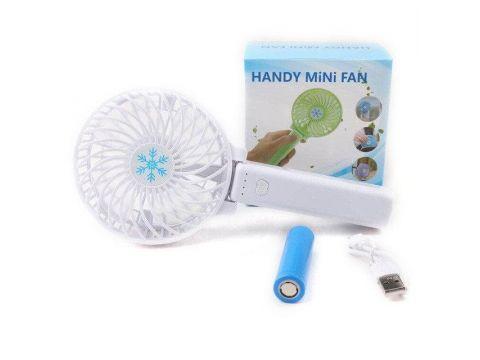 Ручной портативный вентилятор трансформер handy mini fan с аккумулятором 18650, белый
