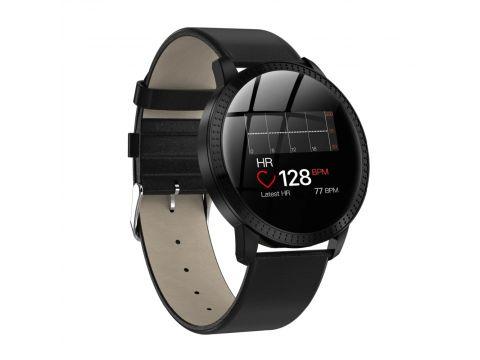 Смарт-часы Lemfo CF18 leather с измерением давления Черный (ftlemcf18bl)