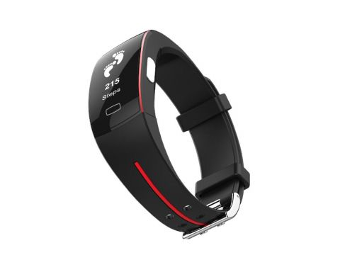 Умный фитнес браслет Lemfo P3 Plus с ЭКГ и тонометром Черный (ftlemp3plusred)