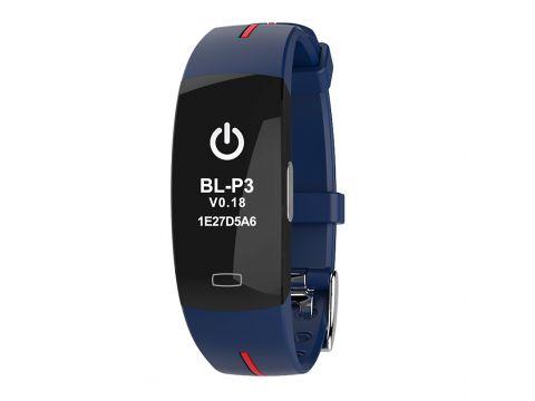 Умный фитнес браслет Lemfo P3 Plus с ЭКГ и тонометром Синий (ftlemp3plusbble)