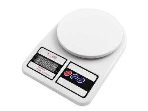 Кухонные весы Kronos SF400 электронные 1-10 кг Белый (258682)