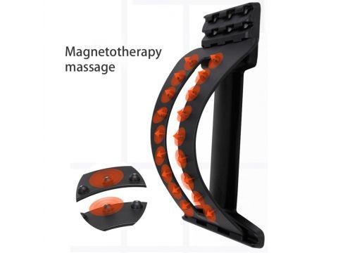 Тренажер мостик массажер для спины и позвоночника MHZ Magic Support, черный