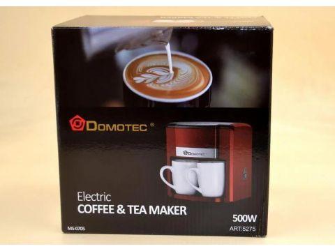 Кофеварка капельная Domotec MS-0705 500 Вт Красная (101215)