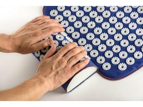 Набор коврик Универсал 40 х 50 см + валик 24 х 12 см Синий ( 188+37)