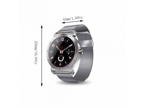 Умные часы Lemfo K88h Plus Metal с сенсорным дисплеем Серебристый (swlemk88hplmsil)