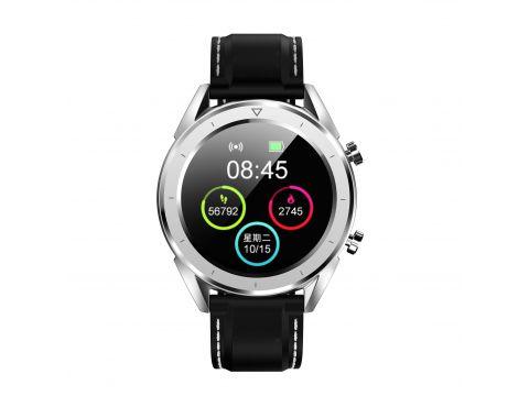 Умные часы No.1 DT28 Silicon с ЭКГ и пульсоксиметром Серебристый (swno1dt28silsil)