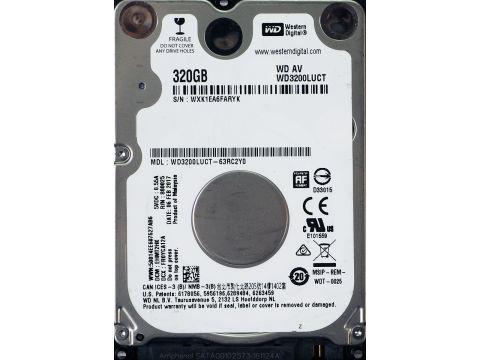 Жесткий диск Western Digital AV-25 320GB 5400rpm 16MB WD3200BUCT 2.5 SATA II Refurbished (100171)