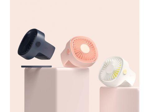 Портативный настольный вентилятор Xiaomi Mijia с перезаряжаемым встроенным аккумулятором (Белый)