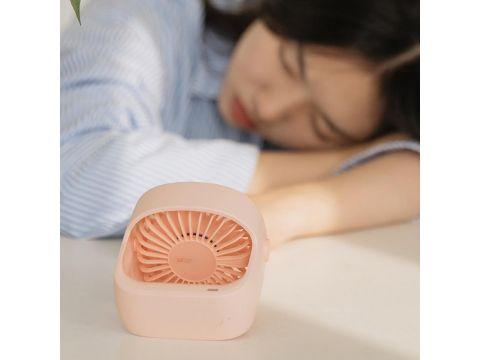 Портативный настольный вентилятор Xiaomi Mijia с перезаряжаемым встроенным аккумулятором (Розовый)