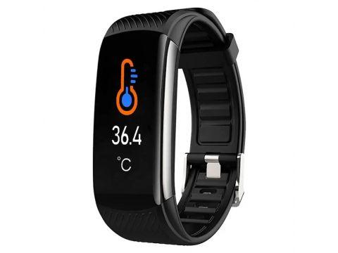 Умный фитнес браслет Lemfo C6T с датчиком температуры тела Черный (ftlemc6tbl)