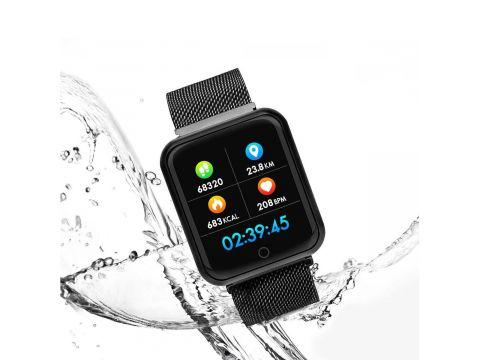 Умные смарт часы Lemfo P68 с измерением давления и влагозащитой IP68 Черный