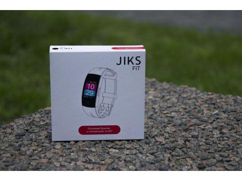 Умный фитнес браслет Jiks Fit с тонометром и измерением ЭКГ Черный