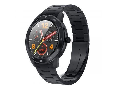 Умные смарт часы NO.1 DT98Metalс измерением артериального давления Черный