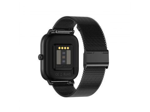 Умные часы NO.1 DT35 Metal с поддержкой измерения давления Черный