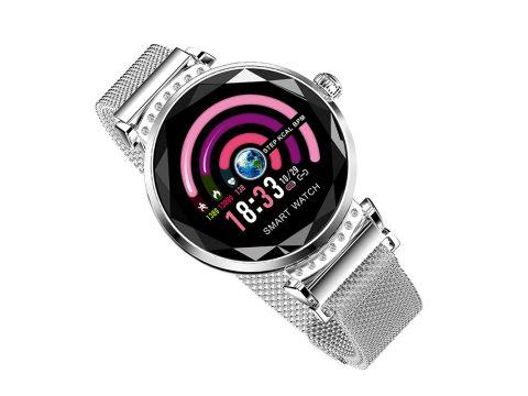 Умные часы фитнес браслет Lemfo H2 с измерением давления Серебристый
