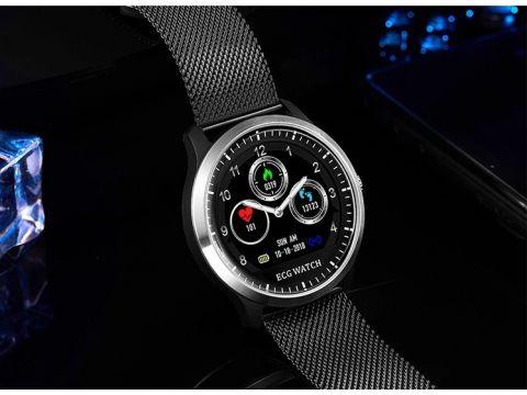 Умные часы Lemfo N58 Metal с измерением давления и ЭКГ Черный