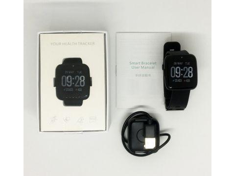 Умные часы фитнес браслет Lemfo Y7 с измерением давления Черный