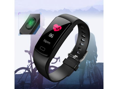 Фитнес браслет Lemfo fit Y9 с измерением кровяного давления Черный