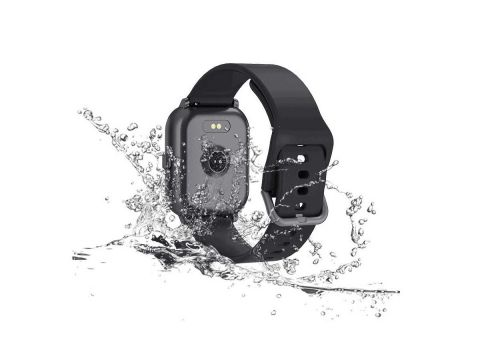 Умные часы Lemfo T55 c цветным дисплеем и тонометром Черный