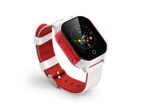 Детские смарт-часы Lemfo DF50 Ellipse Aqua с GPS трекером Бело-красный