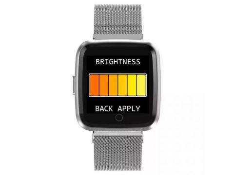 Умные часы фитнес браслет Lemfo Y7 Metal с измерением давления Серебристый