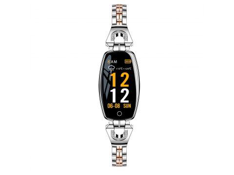 Умные часы фитнес браслет Finow H8 с тонометром Серебристый