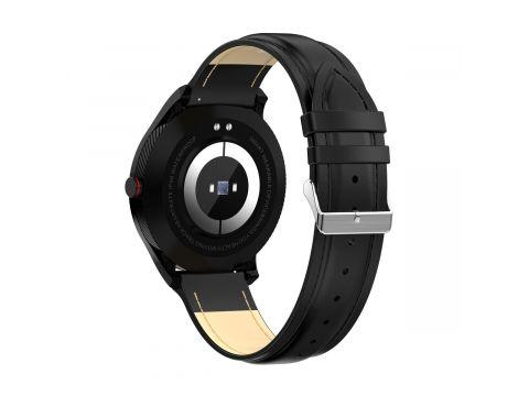 Умные часы Lemfo L9 leather с измерением давления и ЭКГ Черный