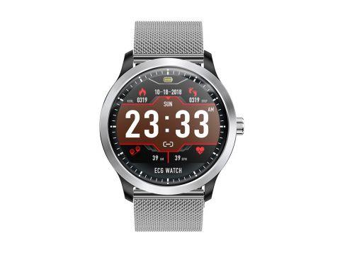 Умные часы Lemfo N58 Metal с измерением давления и ЭКГ Серебристый