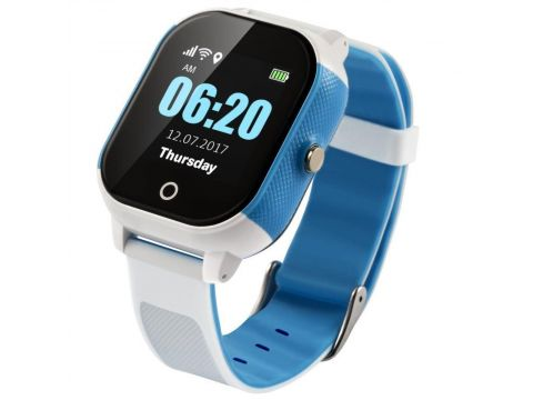Детские смарт-часы Lemfo DF50 Ellipse Aqua с GPS трекером Бело-голубой