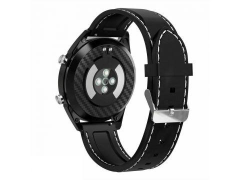 Умные часы No.1 DT28 Silicon с ЭКГ и пульсоксиметром Черный