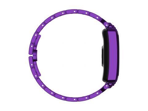 Умные часы фитнес браслет Finow B78 с цветным дисплеем и тонометром Фиолетовый