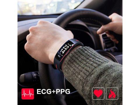 Умный фитнес браслет Lemfo P3 Plus с ЭКГ и тонометром Красный