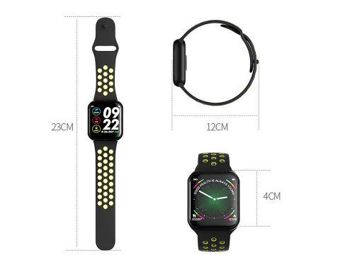 Умные смарт часы Lemfo F8 с тонометром Черно-желтый
